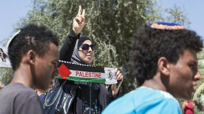 SHOT PALESTINIAN WOMAN STRIPPED NAKED BY SETTLER