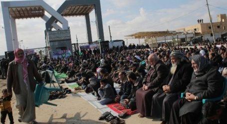 EGYPT OPENS RAFAH FOR ONE DAY TO ALLOW PILGRIMS TO RETURN TO GAZA