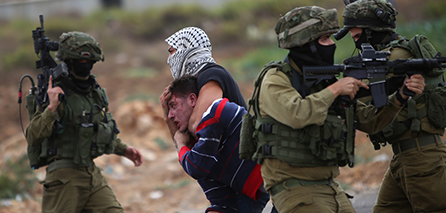 ISRAELI SOLDIERS VIOLENTLY ATTACK PALESTINIANS IN QALQILIYA CLASHES