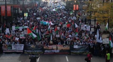 THOUSANDS ATTEND PRO-PALESTINIAN RALLIES IN US