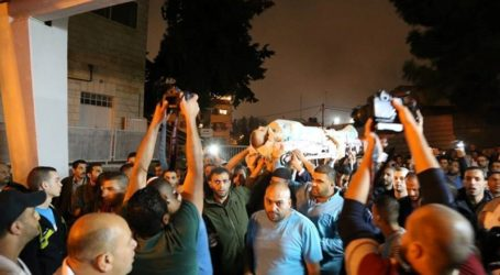 THOUSANDS MARCH IN FUNERAL PROCESSION OF SLAIN PALESTINIAN YOUTH