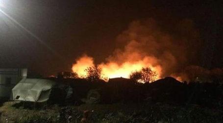 CALAIS REFUGEE CAMP SET ON FIRE