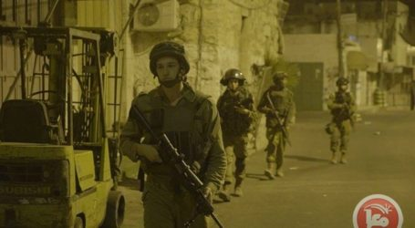ISRAELI FORCES DETAIN 15 PALESTINIANS IN HEBRON AREA