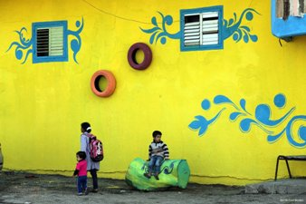 STREET ART CAMPAIGN BRIGHTENS GAZA REFUGEE CAMP