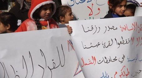 PALESTINIAN ORPHANS IN NABLUS PROTEST CLOSURE OF CHARITY SUPPORTING THEM