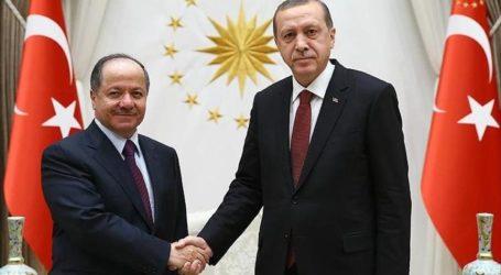TURKEY'S ERDOGAN MEETS KURDISH PRESIDENT