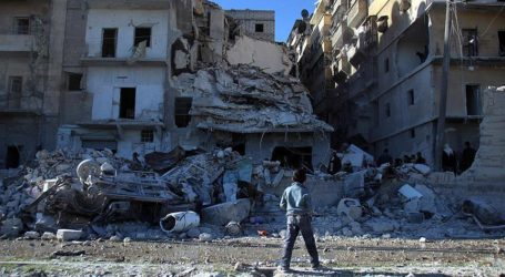 RUSSIAN AIRSTRIKES KILL 14 IN SYRIA'S ALEPPO PROVINCE