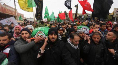 THOUSANDS ATTEND RAMALLAH FUNERAL FOR SLAIN PALESTINIANS