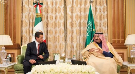 King Salman Holds Talks With Mexican President