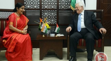 Indian foreign Minister Visits Palestine