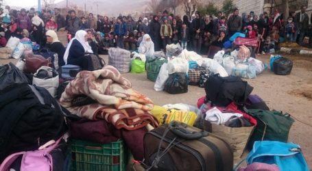 HUMANITARIAN AID CONVOY ENTERED BESIEGED SYRIA TOWN OF MADAYA