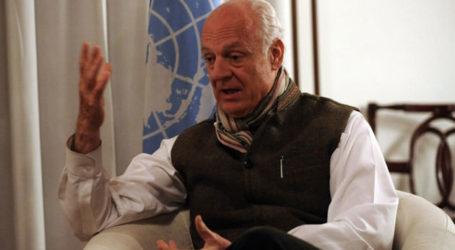 UN ENVOY ARRIVES IN SYRIA AHEAD OF PEACE TALKS