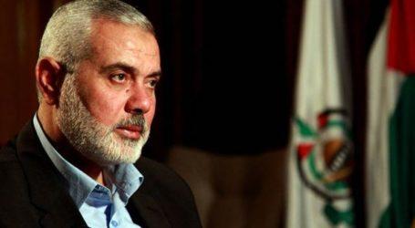 HANEYYA URGES ARAB, MUSLIM LEADERS TO SUPPORT PALESTINIAN INTIFADA