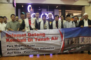 Volunteers Assigned to Help Construction of Gaza Indonesian Hospital Back Home