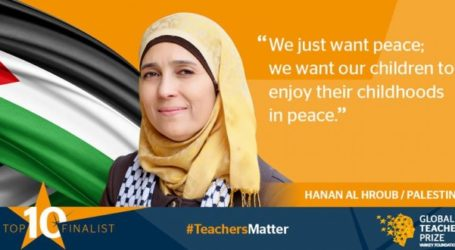 Palestinian Teacher Announced One Of Top 10 In The World