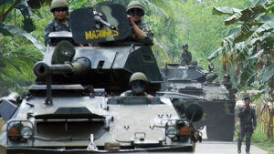 Military offensive against Abu Sayyaf continues  to free hostages held by Abu Sayyaf.