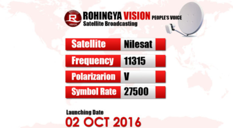 The Launch of the Pilot Broadcast of the First Satellite Channel to Rohingya Muslims In Burma
