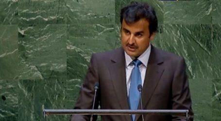 Qatari Emir Calls for Lifting Siege on Gaza Strip