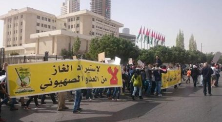 A Protest March In Amman Against Gas Agreement With Israel