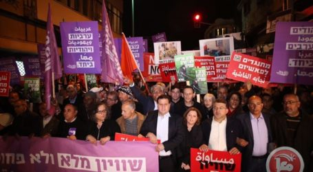 Thousands Rally in Tel Aviv against 'Racist' Israeli State and Home Demolitions