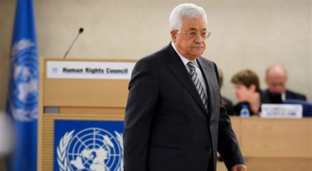Palestinian President Urges Protection of Two-State Solution