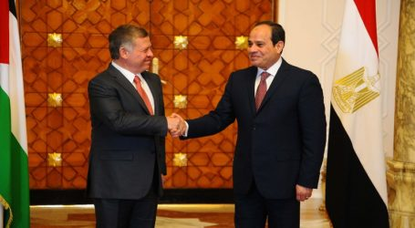 Sisi-King Abdullah Discuss Efforts To Break Stalemate In Mideast Peace Process
