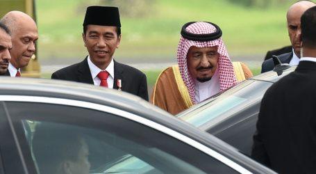 King Salman Arrives at Halim Airport