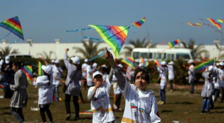 Palestinian Children Fly Kites In Solidarity With Japan