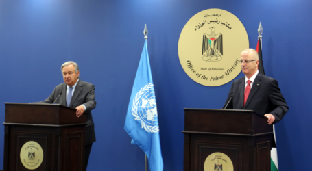 UN Secretary General in Ramallah Demands that Israel Ceases Settlement Activities