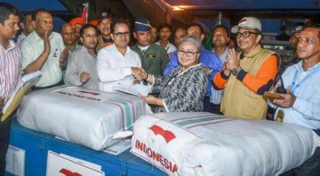 Humanitarian Aid from Indonesia Received by Bangladesh Government