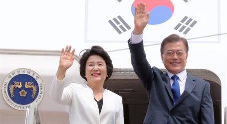 South Korean President Moon Arrives in Jakarta for State Visit