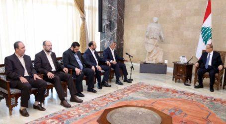Hamas Delegation Meets Lebanese President, Speaker in Beirut