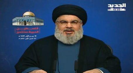Hizbullah Chief Urges Severing of Arab Ties with Israel