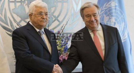 Abbas Meets UN Secretary General to Discuss Peace Process, UNRWA