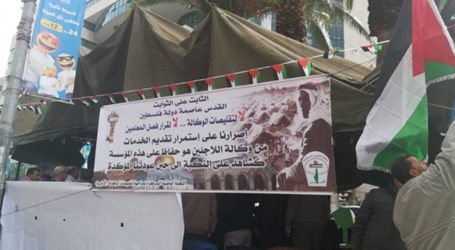 Sit-in Nablus in Protest at UNRWA Cuts