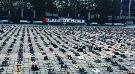 A Memorial in Brussels Commemorates 4.500 Palestinian Victims