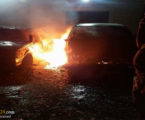 Israeli Settlers Set Two Palestinian Vehicles on Fire South of Nablus
