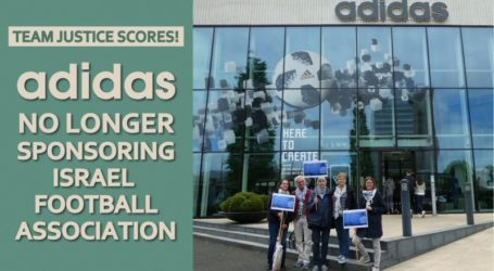 BDS Welcomes Adidas Decision to End Sponsoring Israel Football