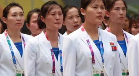 (Asian Games) North Korean Athletes Welcomed at Athletes' Village