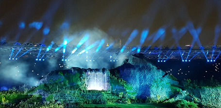 Diversity of Indonesia at the Main Stage of the Opening 18th Asian Games