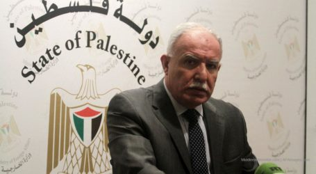 Palestine Calls International Community Thwarting Israel's to Annex West Bank