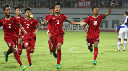 Indonesian Under-16 Football Team Won 5-0 in Second Trial Match