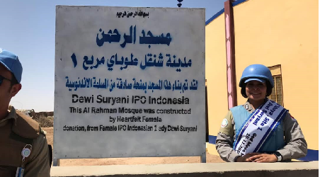 An Indonesian Policewoman Builds a Mosque in Darfur, Sudan