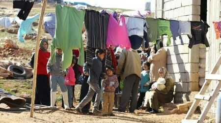 Palestinian Refugees Protest for Feasibility Camp