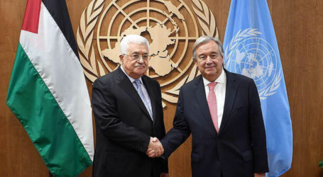 President Abbas Meets UN Secretary-General, Discusses Lates Developments in Palestinian Issue