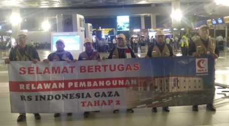MER-C Sends 32 Volunteers to Continue Construction Indonesian Hospital in Gaza