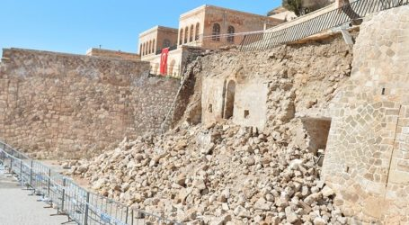 17th Century Mosque Discovered Under Collapsed Retaining Wall in Turkey's Mardin