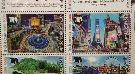 Stamp Issuance Marks 70th Anniversary of RI-USA Bilateral Relationship