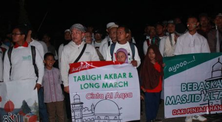 Long March, Form of Moral Support for the Palestinian People
