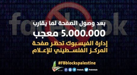 Facebook Blocks Home of Palestinian Information Center